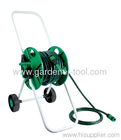 Plastic Garden Hose Reel Cart With 45M 12MM Garden Hose
