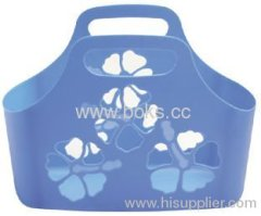 2013 beautiful plastic bath basket with handle