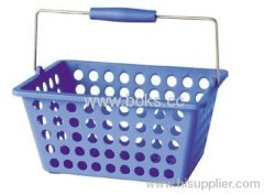 2013 plastic shopping basket with handle