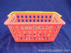 2013 colorful custom plastic handle baskets