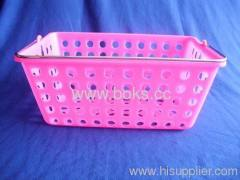 2013 square plastic bath basket with handle