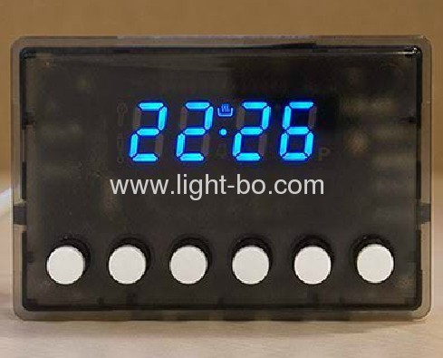 Ultra White Four-Digit 14.2mm (0.56 ) 7 Segment LED Display for Multifunction Digital Oven Timer Control.