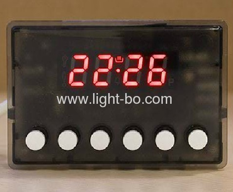 Custom 0.56-inch four-digit seven segment led displays for digital oven timer control.Operating temoerature 120C.