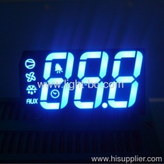 ODM Ultra blue 3 digit 7 segment led display for refrigeration control