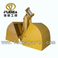Excavator hydraulic clamshell bucket