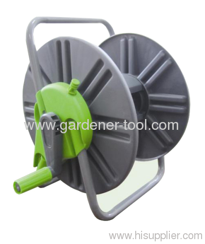 plastic portable water hose reel with 60m 13mm pvc garden hose capacity