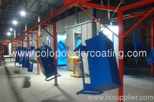 ISO9000 quality management system powder coating line in Chi