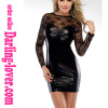 Black Sexy Ployester Lace Clubwear