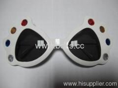 2013 black white plastic party glasses