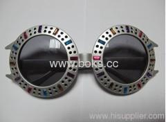2013 black strange shape plastic party glasses
