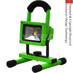 Green color 10W LED Work Light Portable Rechargeable