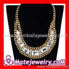 big crystal bib collar Necklace