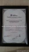 Supplier Assessment Certificate