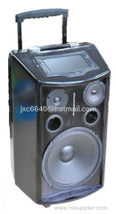 Karaoke portable amplifier with wireless microphone