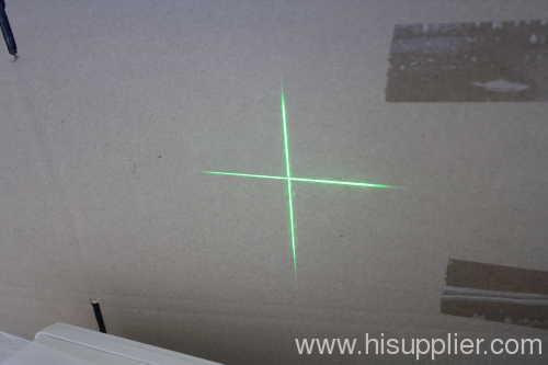 Green laser cross line module