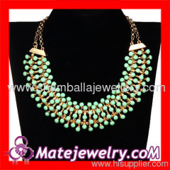 Costume chunky bib necklace