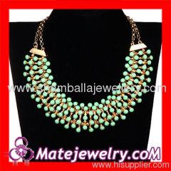 Costume chunky bib necklace