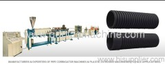Corrugated pipe extrusion line plant