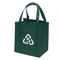 Handled tote bag with non woven material