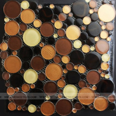 Nero Glass round mosaic