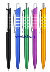 Promotional ballpen with matt barrel and shining chrome trims