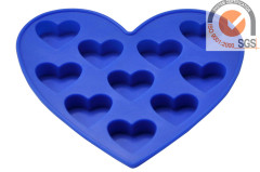 Silicone Ice Cube Tray in blue color