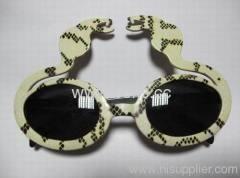 2013 strange style plastic sunglasses