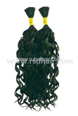 100% VIRGIN HAIR BULK CURLY INDIAN REMY BULK HAIR