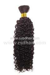 100% VIRGIN HAIR BULK CURLY CHINESE REMY BULK HAIR