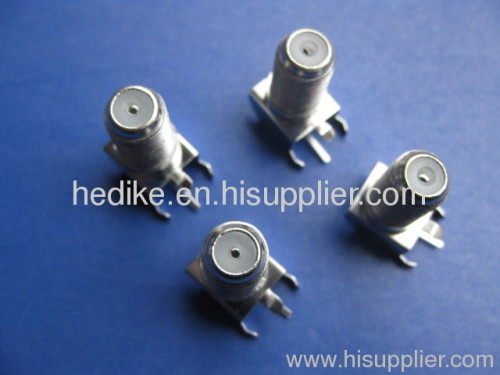 F connector with brackets for set top box