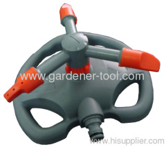 Plastic whirling sprinkler with base