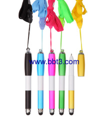 Promotional stylus ballpen with lanyard