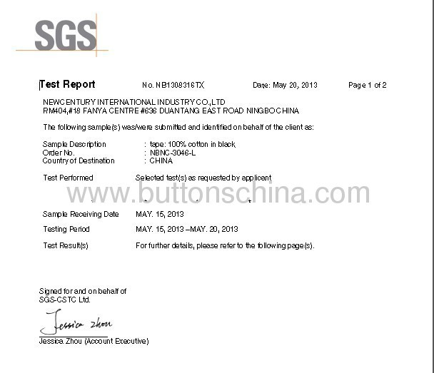 COTTON CORD COLOR FASTNESS TEST