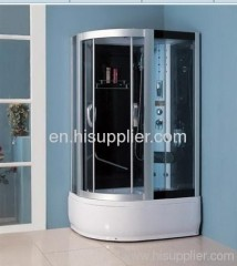 top light with D-shape luxury glass shower cabin