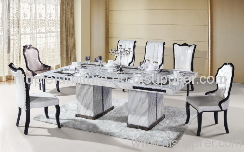 Rectangle 8 Person Marble Dining Table Furniture