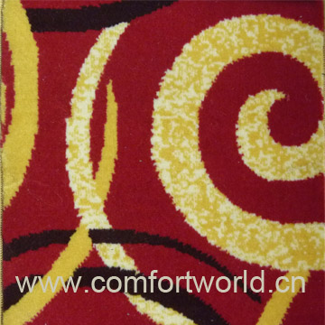 Printed Brushed Carpet Fabric