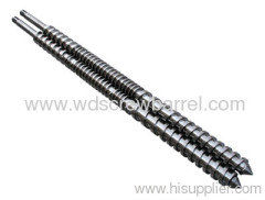 parallel twin bimetallic screw and cylinder for extruder
