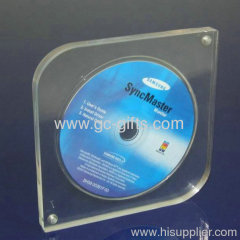 Transparent Finely Designed Acrylic CD DVD Display Rack Box