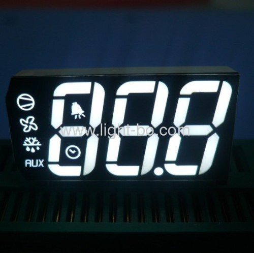 Custom Triple-Digit ultra white 7 segment led display for cooling control