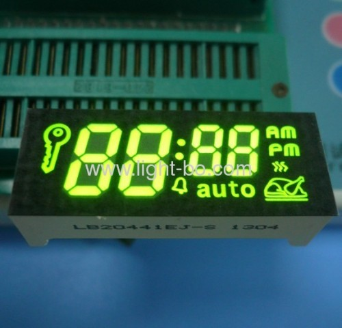 Custom design ultra bright amber 7 segment led displays for oven timers
