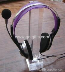 Custom clear plexiglass headphone holder stand