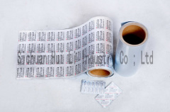 Flexible aluminum foil for medicines