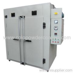 electrostatic powder coating cure oven