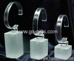 Clear Acrylic Watch Stand with frosted base