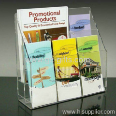 The popular clear leaflet holder/Lucite literature Holder/Acrylic Brochure Display