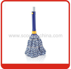 Colorful pp bag Twist Mop with telescopic Iron handle