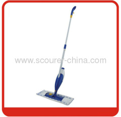 Telescopic alu handle plastic spray flat mop with microfiber Mop Head