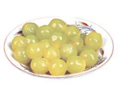 Canned grapes in light syrup