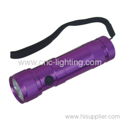 aluminium 8+1 LED torch