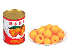 Canned loquats in light syrup